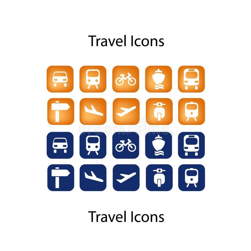 kumpel ikony ustawiająca podróż ilustracja wektor