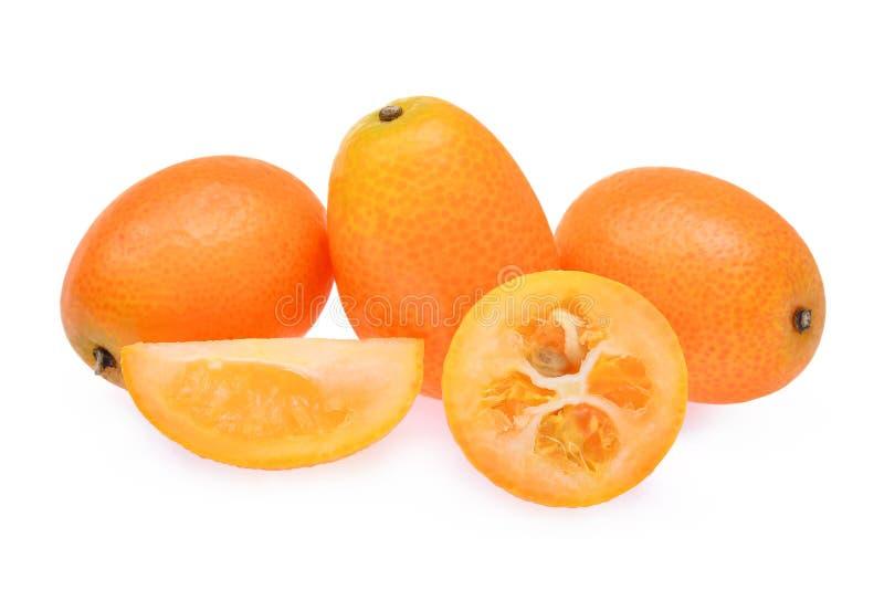Kumquat, cumquat owoc odizolowywająca na białym tle zdjęcie royalty free