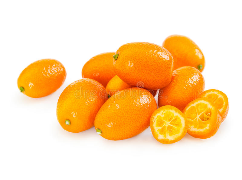 Kumquat fresco do citrino imagens de stock royalty free
