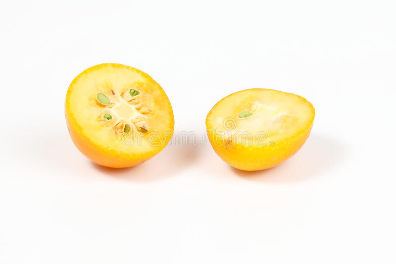 Kumquat ripe juicy. Small citrus sweet orangey fruit stock photography