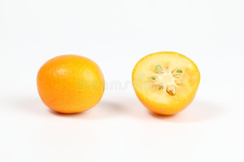 Kumquat ripe juicy. Small citrus sweet orangey fruit stock photo