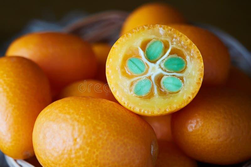 Kumquats eller Cumquats arkivbild