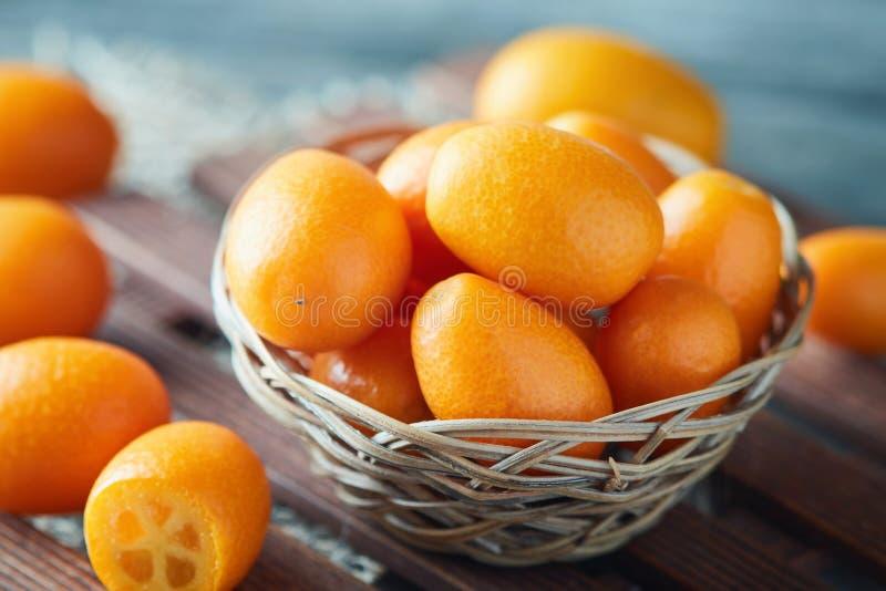 Kumquats eller Cumquats arkivfoto