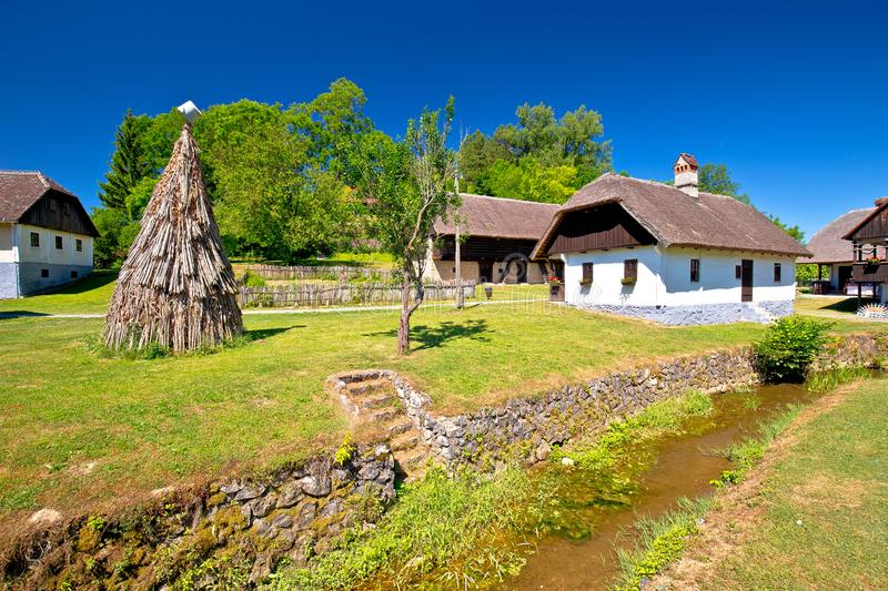 Kumrovec picturesque village and creek in Zagorje region of Croatia royalty free stock images