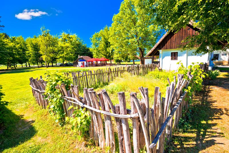 Kumrovec picturesque village in Zagorje region of Croatia royalty free stock photos