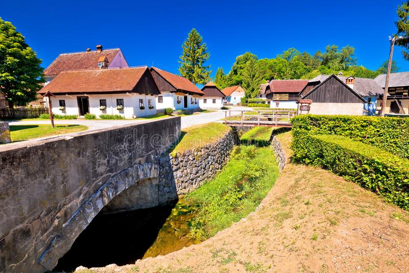 Kumrovec picturesque village in Zagorje region of Croatia stock photography