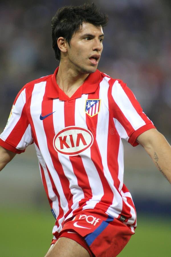 Kun Agüero d'Atletico de Madrid image libre de droits