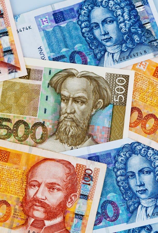 Kuna - dinero en circulación de croatia fotografía de archivo
