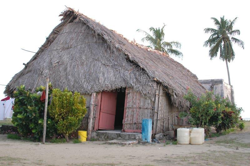 Kuna Indisch huis van Panama stock fotografie