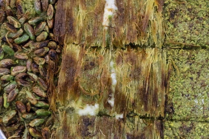 Kunafah z pistacją w Gaziantep obrazy royalty free