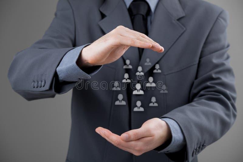 Kund- eller anställdomsorgbegrepp royaltyfri foto