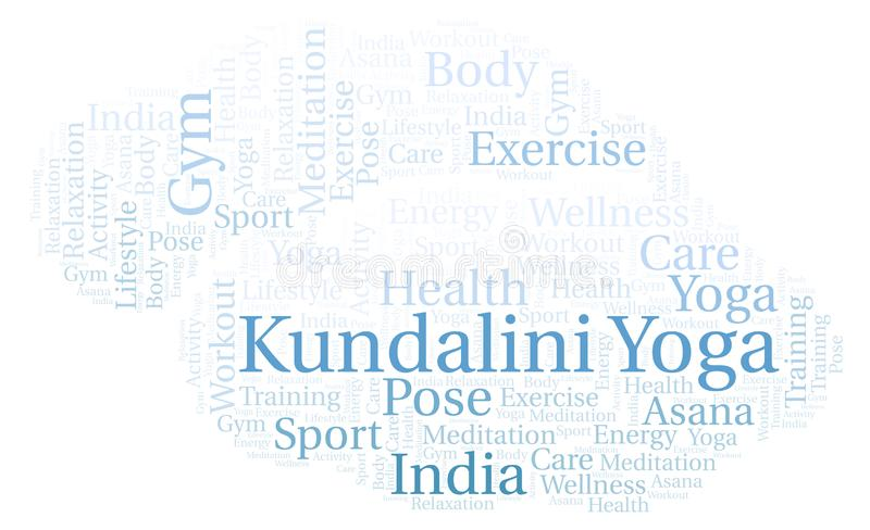 Kundalini瑜伽词云彩 皇族释放例证