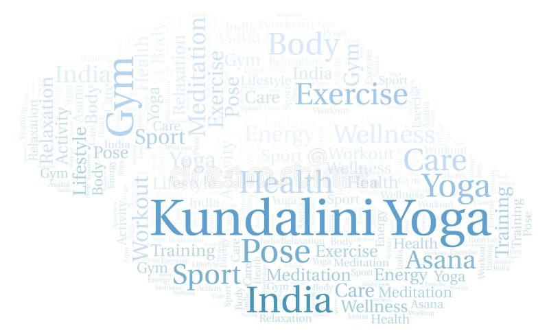 Kundalini joga słowa chmura royalty ilustracja