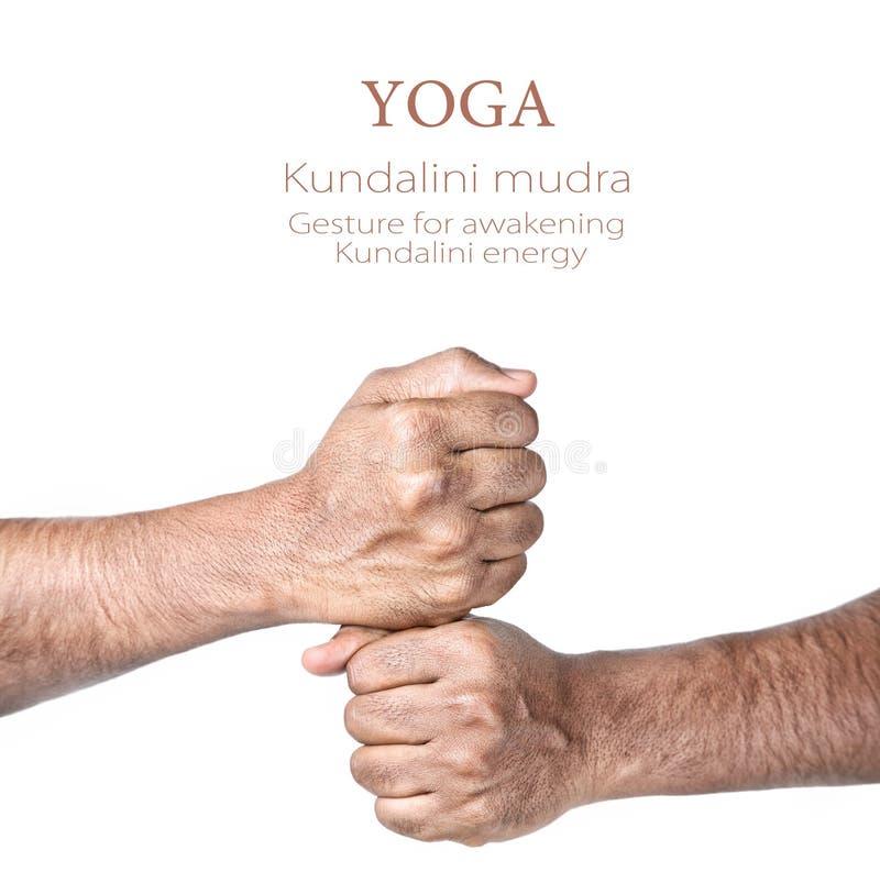 Kundalinimudra van de yoga royalty-vrije stock fotografie