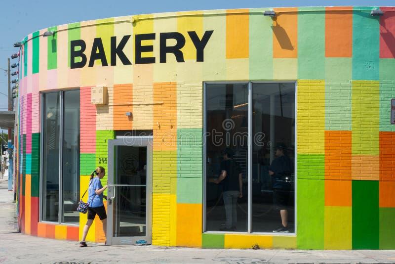 Kunde bei Zak der Bäcker stockbilder