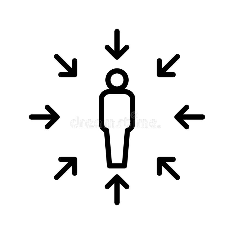 Kunde centricity Ikone, Vektorillustration stock abbildung