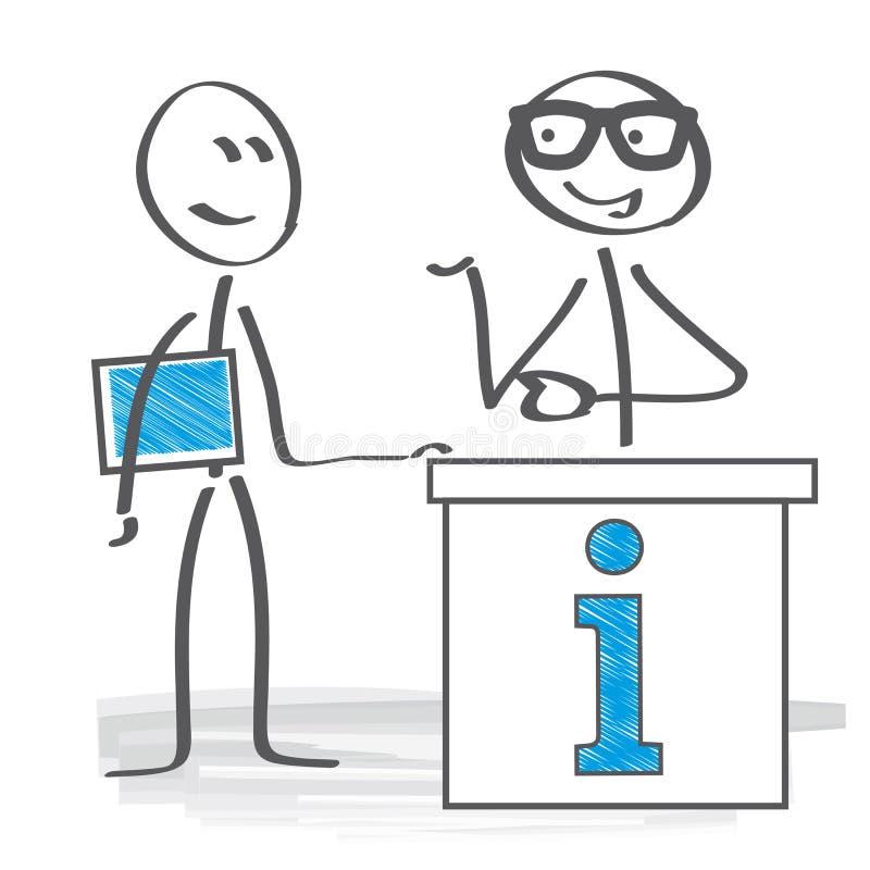 Kunden är klok royaltyfri illustrationer
