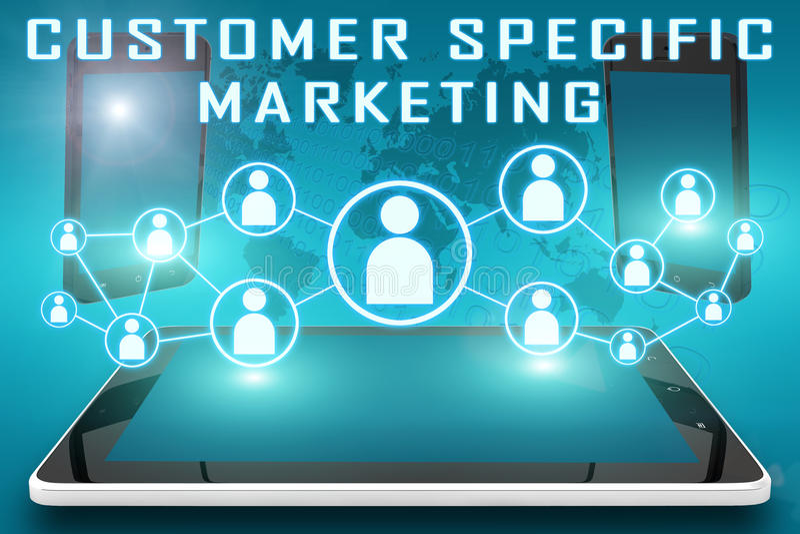 Kunden-spezifisches Marketing vektor abbildung