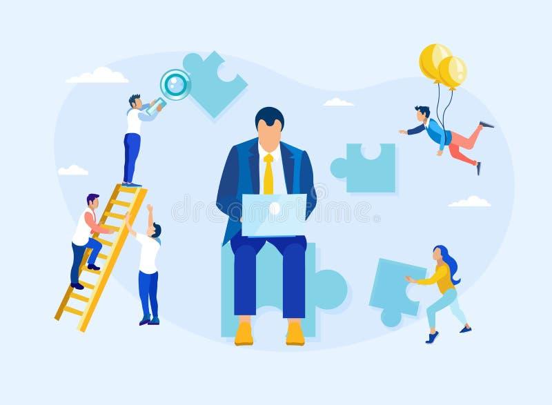 Kunden-Verhältnis-Management und Führung lizenzfreie abbildung