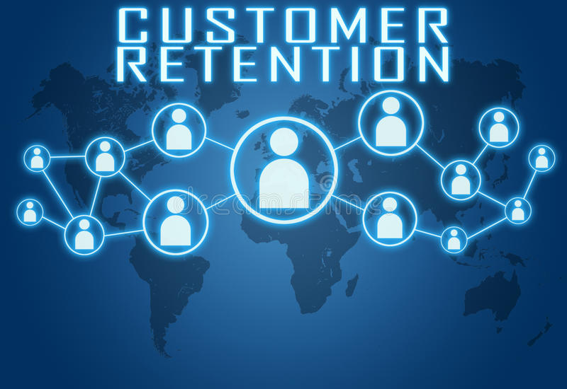 Kunden-Zurückhalten stockfoto