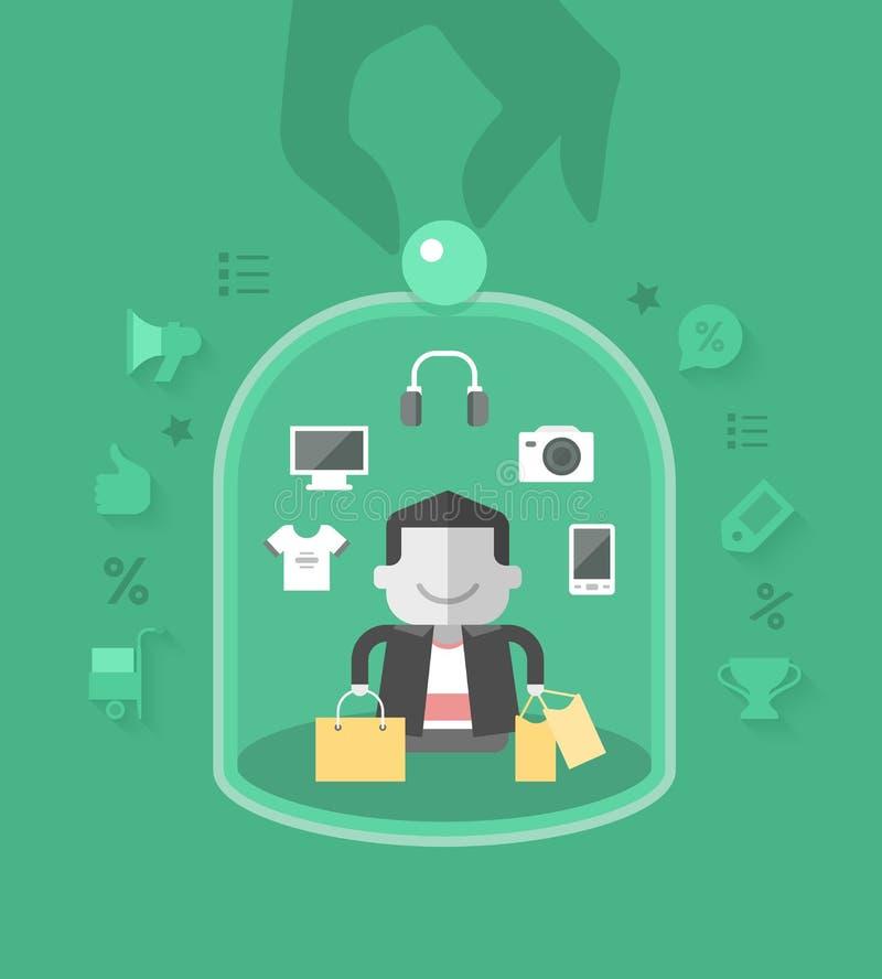 Kundenbetreuung lizenzfreie abbildung