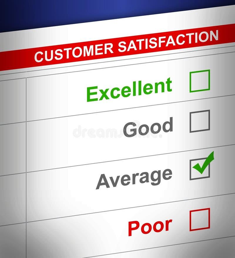 Kundendienstübersicht mit dem Durchschnitt ausgewählt. stock abbildung