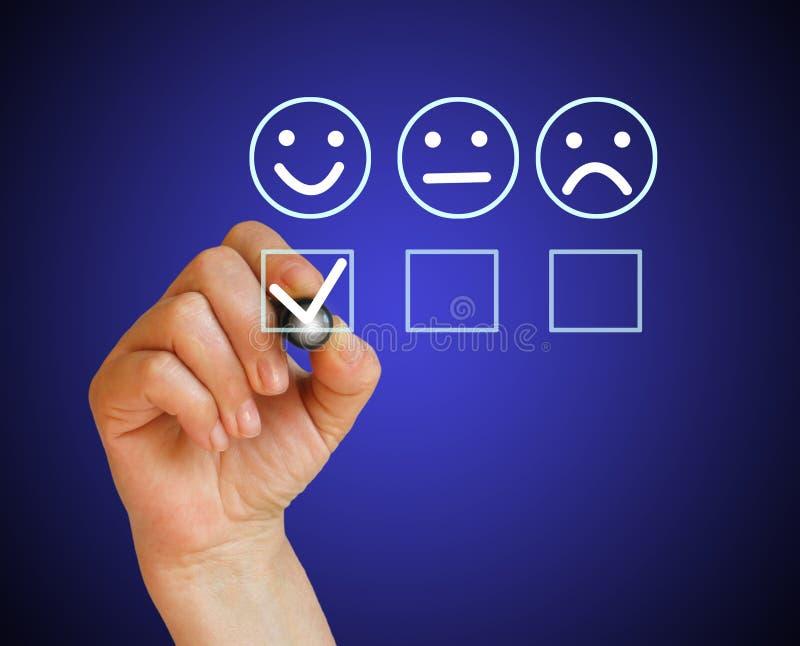 Kundendienst eine schöne lächelnde Geschäftsfrau lizenzfreie stockbilder