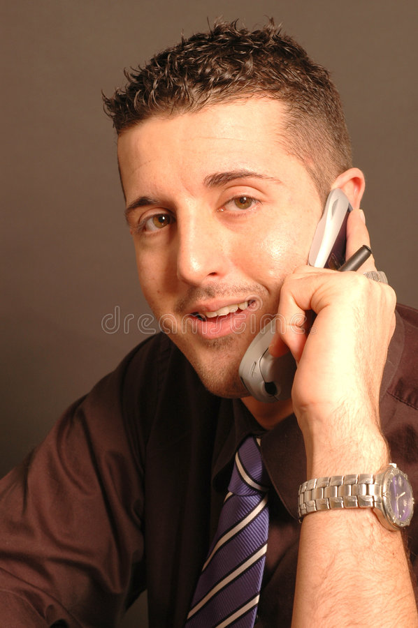 Kundendienst mit Lächeln stockbild