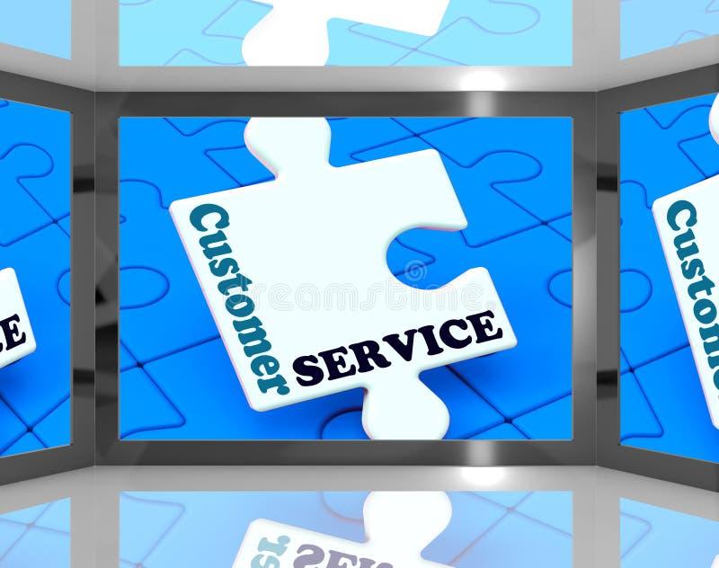 Kundendienst am Schirm, der Kundenbetreuung zeigt lizenzfreie abbildung