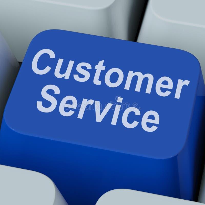 Kundendienst-Schlüssel zeigt on-line-Verbraucher-Unterstützung stockfotos