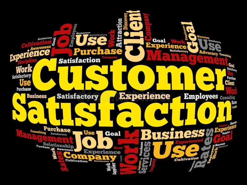 Kundendienst-Wortwolke vektor abbildung