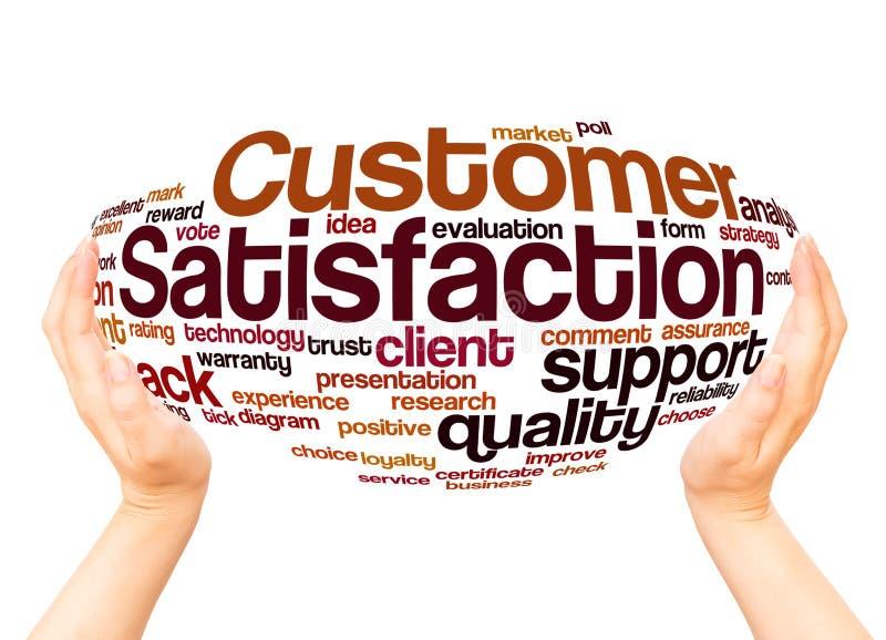 Kundendienst-Wortwolkenhandbereichkonzept vektor abbildung