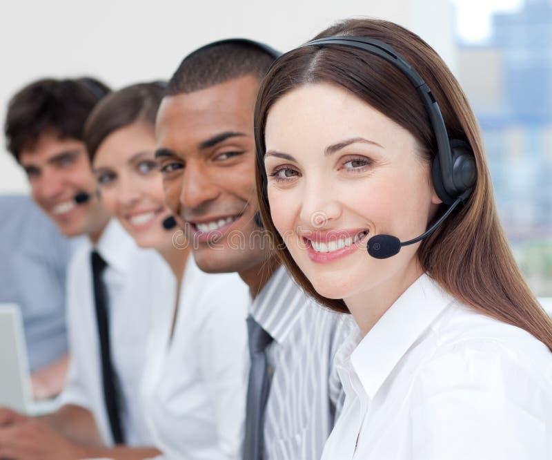 Kundendienstmittel, die Verschiedenartigkeit zeigen lizenzfreies stockbild