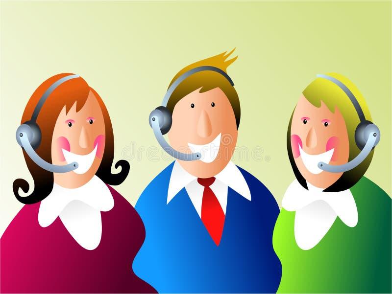 Kundendienstteam lizenzfreie abbildung