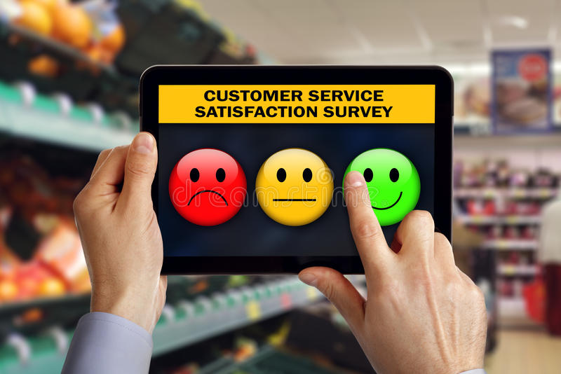 Kundendienstzufriedenheitsumfrage stockfotografie