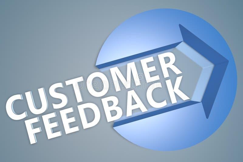 Kundenfeedback lizenzfreie abbildung