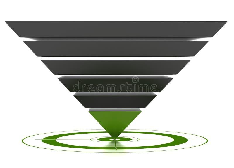 Kundengerechter Konvertierungstrichter lizenzfreie abbildung