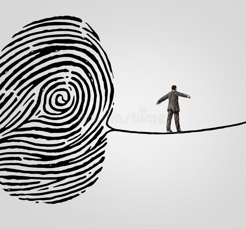Kundeninformations-Risiko lizenzfreie abbildung