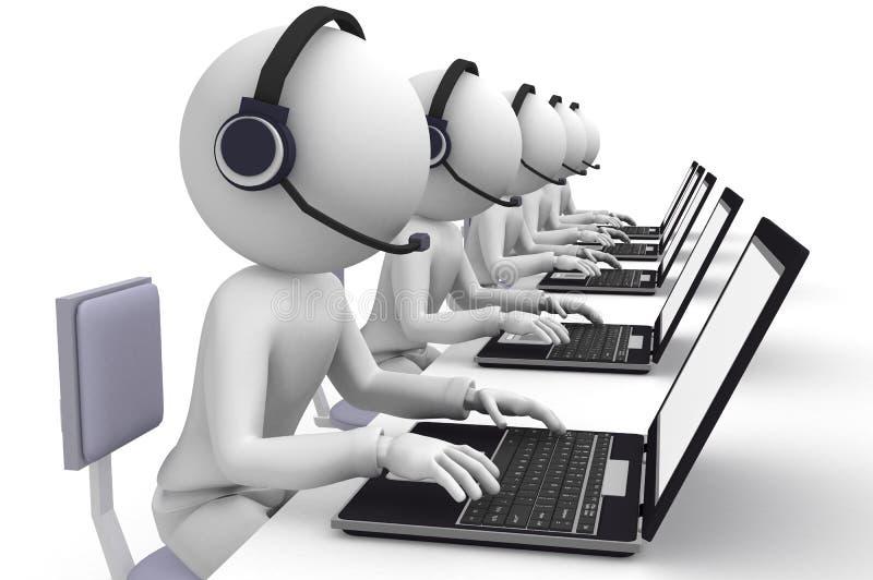Kundenkontaktcenter vektor abbildung