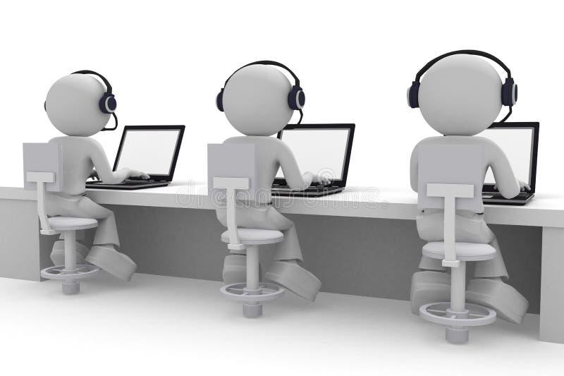 Kundenkontaktcenter lizenzfreie abbildung