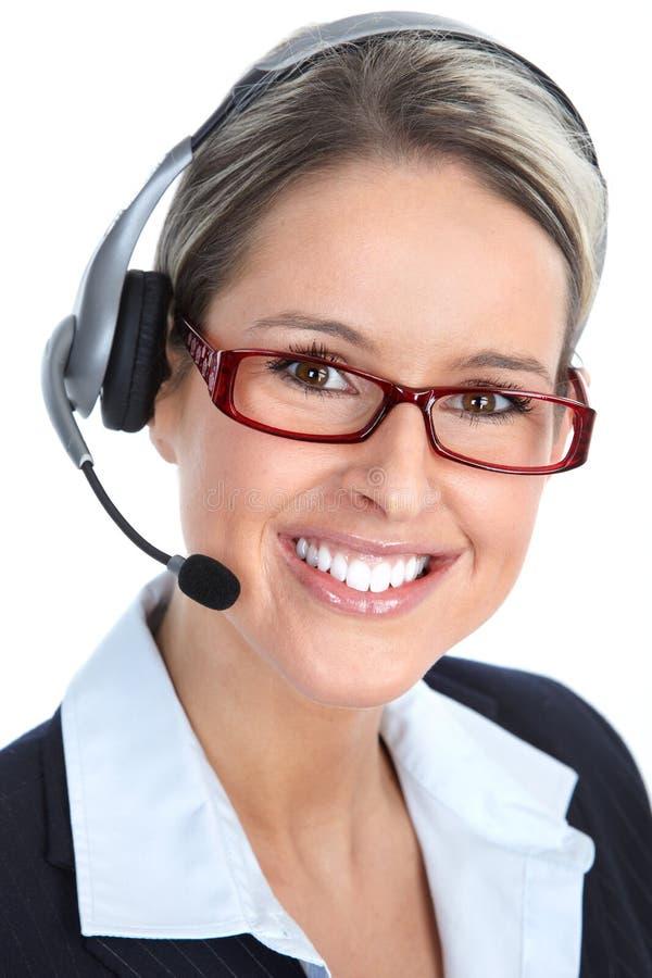 Kundenkontaktcenter-Bediener stockbilder