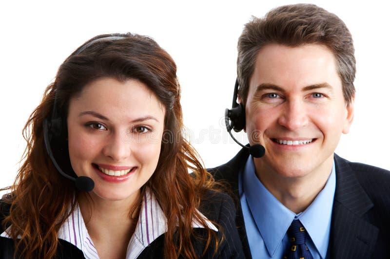 Kundenkontaktcenter-Bediener lizenzfreie stockbilder