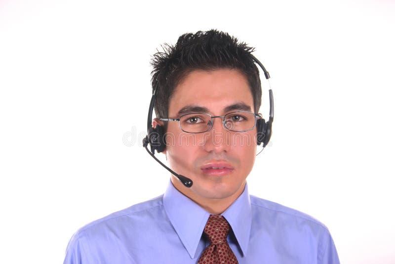 Kundenkontaktcenter Bedienermann lizenzfreie stockfotos