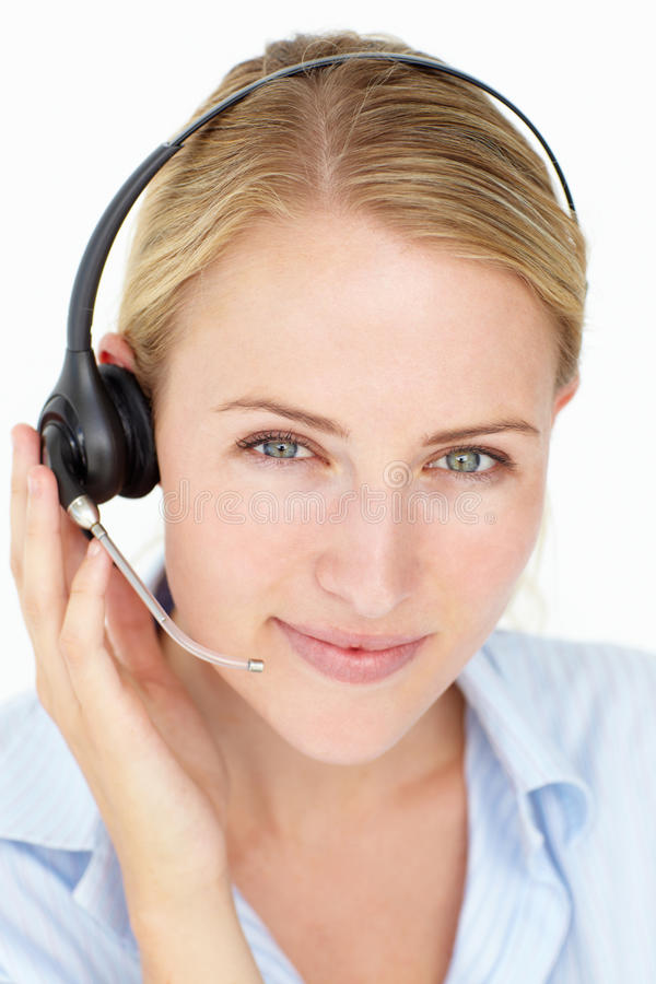 Kundenkontaktcenterbediener lizenzfreies stockbild
