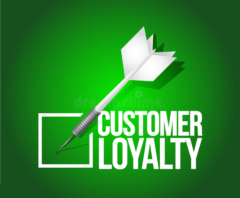Kundenloyalitäts-Pfeilauswahl Abbildung stock abbildung