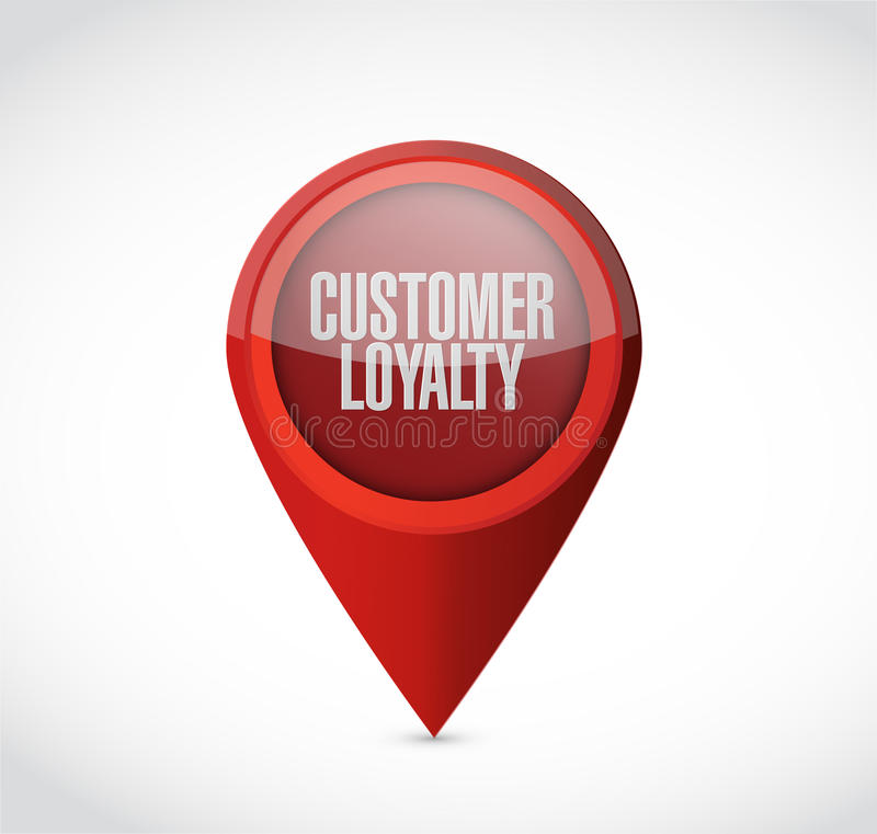Kundenloyalitätszeiger-Zeichenkonzept stock abbildung