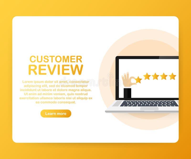 Kundenrezension, Brauchbarkeits-Bewertung, Feedback, isometrisches Konzept des Bewertungssystems Auch im corel abgehobenen Betrag stock abbildung