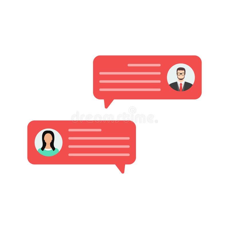 Kundenrezensionsbewertungsmitteilungen, on-line-Berichte oder Kundenmeinungen, Feedback, Bewertung spielen die Hauptrolle Flaches lizenzfreie abbildung