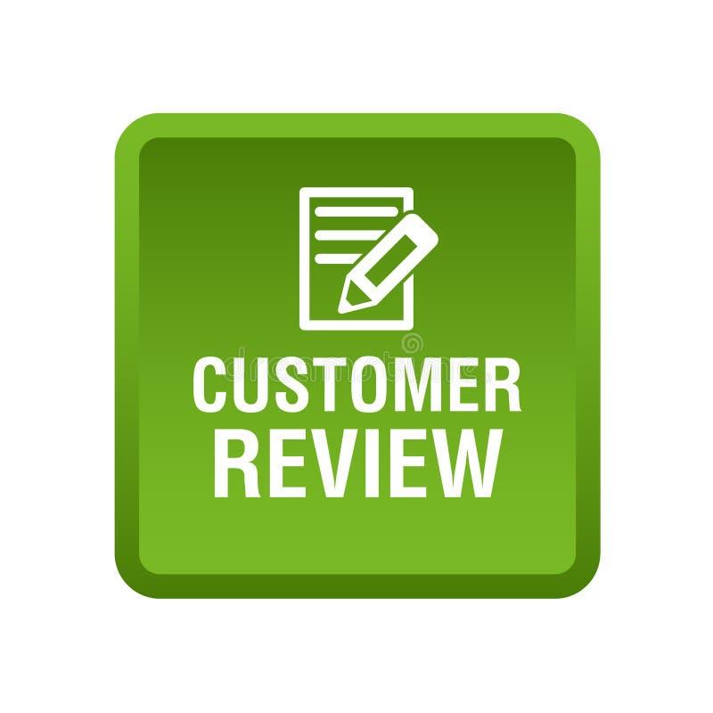 Kundenrezensionsknopf stock abbildung