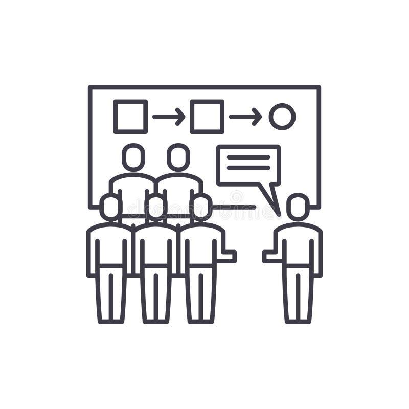 Kundensegmentierungslinie Ikonenkonzept Lineare Illustration des Kundensegmentierungs-Vektors, Symbol, Zeichen lizenzfreie abbildung